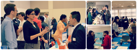 Students and employers during the annual GW Startup Career Expo