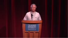 Nobel Peace Prize Winner Muhammad Yunus at GW